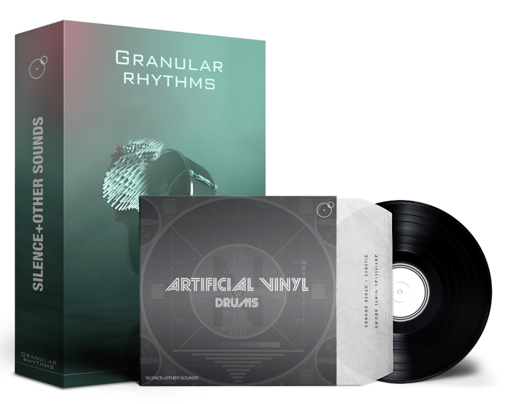 Granular Rhythms Artificial Vinyl Drums as Producer Drums Bundle Artwork by Franz Russo