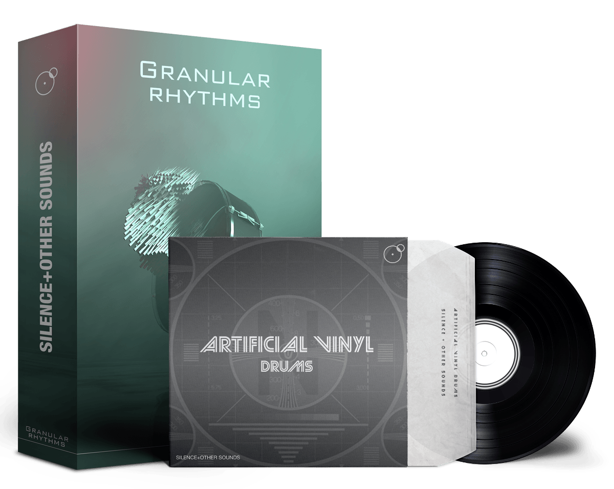 Granular Rhythms Artificial Vinyl Drums as Producer Drums Bundle Artwork by Franz Russo
