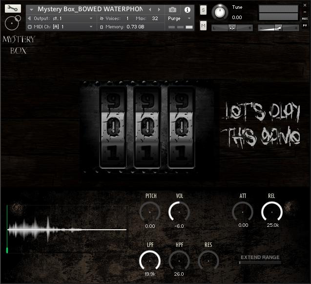 Mistery Box GUI Kontakt Instruments